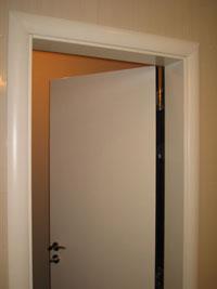 Лакирана  врата с овални первази двуцветна