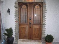 Дъбова старинна масивна входна врата