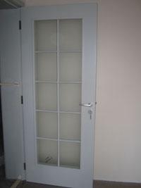 Лакирана остъклена врата