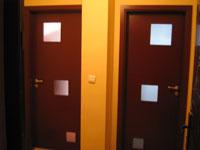 Остъклени интериорни лакирани врати