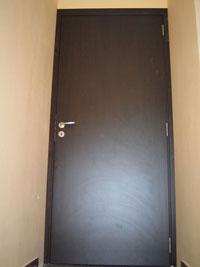 Ламинатна врата по заявка на клиента в цвят венге