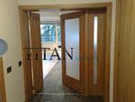 Нестандартна двукрила остъклена интериорна врата