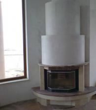 Модерна камина-ъглова