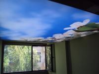 Опънат таван за козметично студио