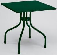 Квадратна метална маса в тъмно зелено