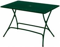 Метална маса правоъгълна тъмно зелена