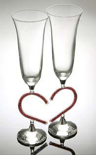 Кристални чаши за сватба -01 - 2бр