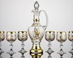 Кристален сервиз-016 - Гарафа с 6 чаши