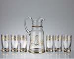 Кристален сервиз от 6 чаши за вода и гарафа - 09