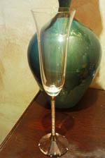 Кристална чаша шампанско - 2 бр комплект