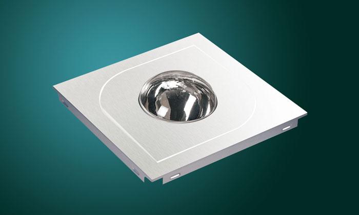 Квадратен модул с издадено сферично осветително тяло и форма на лист