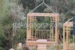 Луксозна дървена беседка за градината по поръчка