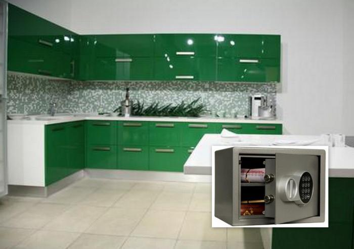 Кухня с вграден сейф Сейф T – 23 EL комплект