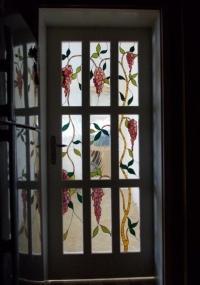 Луксозна врата с витраж