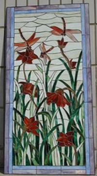 Изработка на Витражи с цветя