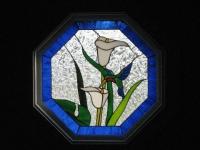 Осмоъгълен прозорец Витраж
