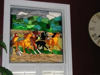 Витраж с коне за прозорец