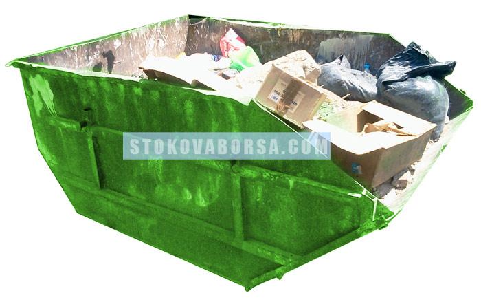 Метален контейнер за промишлени отпадъци