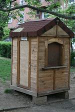 Изработка на дървени будки по клиентски проект