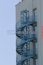 външна вита противопожарна стълба