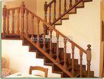 изработка на дървени парапети за стълбища
