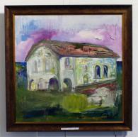 Картина на Динко Ненов - Църквата в Кралец