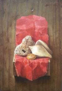 Авторска живописна картина Цветни ангели 3