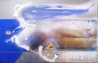 Живописна авторска картина Легнало голо тяло