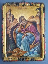 Авторска икона от дърво Св. Пророк Илия