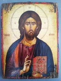 Авторска икона от дърво Исус Христос 2