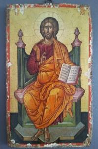 Авторска икона от дърво Исус Христос 3