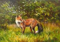 Картина с изображението на лисица